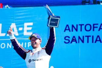 Podio: ganador de la carrera Sam Bird, Envision Virgin Racing