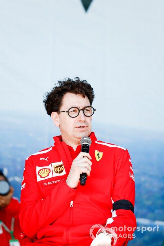 Mattia Binotto, Team Principal Ferrari, on stage