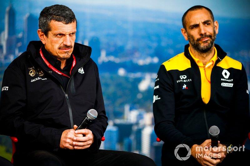 Гюнтер Штайнер, керівник команди Haas F1, та Клер Вільямс, заступник керівника команди, Williams Racing