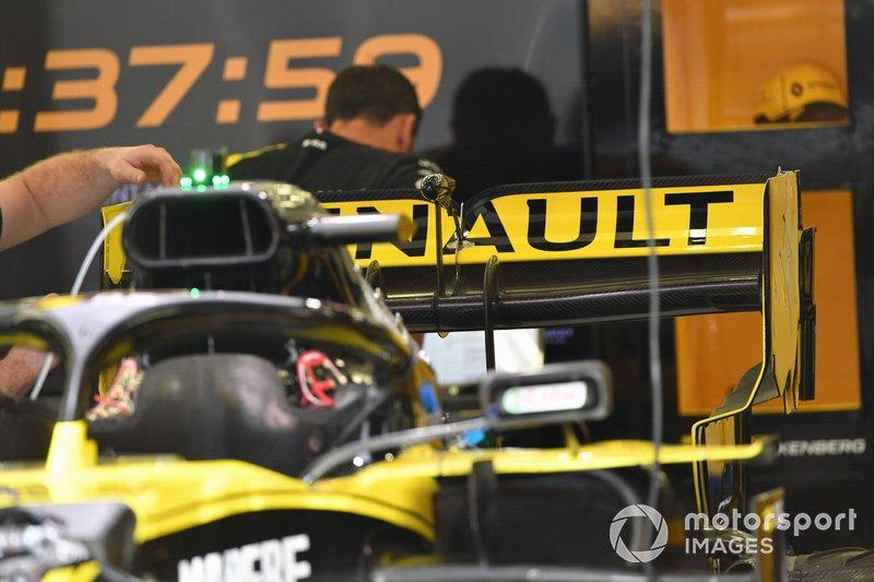 L'aileron arrière de la Renault R.S.19