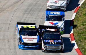 Todd Gilliland, Kyle Busch Motorsports, Toyota Tundra Mobil 1 and Sheldon Creed, GMS Racing, Chevrolet Silverado A.M.Ortega/RTL