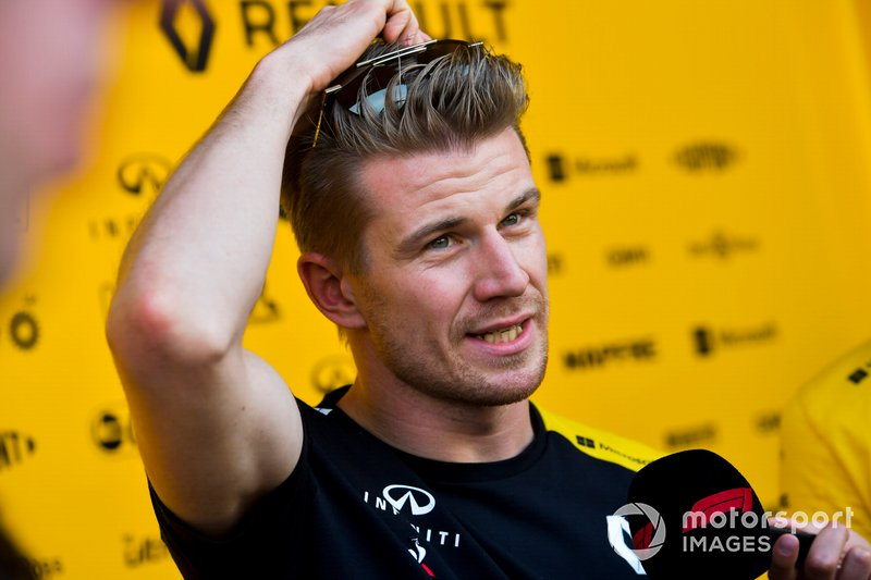 Nico Hulkenberg, Renault F1 Team parla con i media