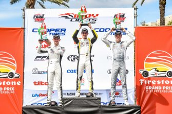 Race 1 Winners, Zachary Claman, Toby Sowery, Oliver Askew