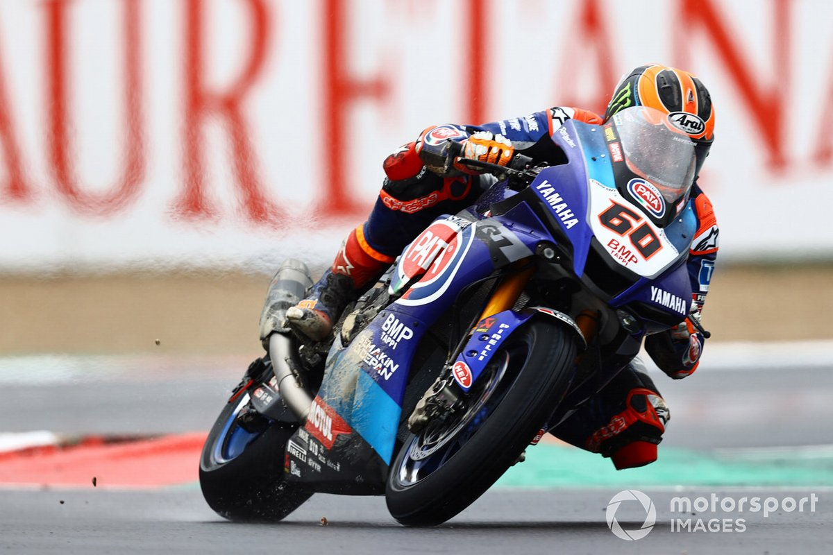 Michael van Der Mark, Pata Yamaha, crash damage