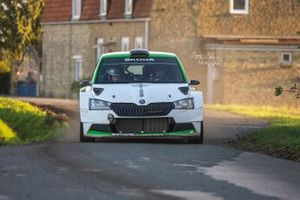 Oliver Solberg, Aaron Johnston, Skoda Fabia Rally2 evo