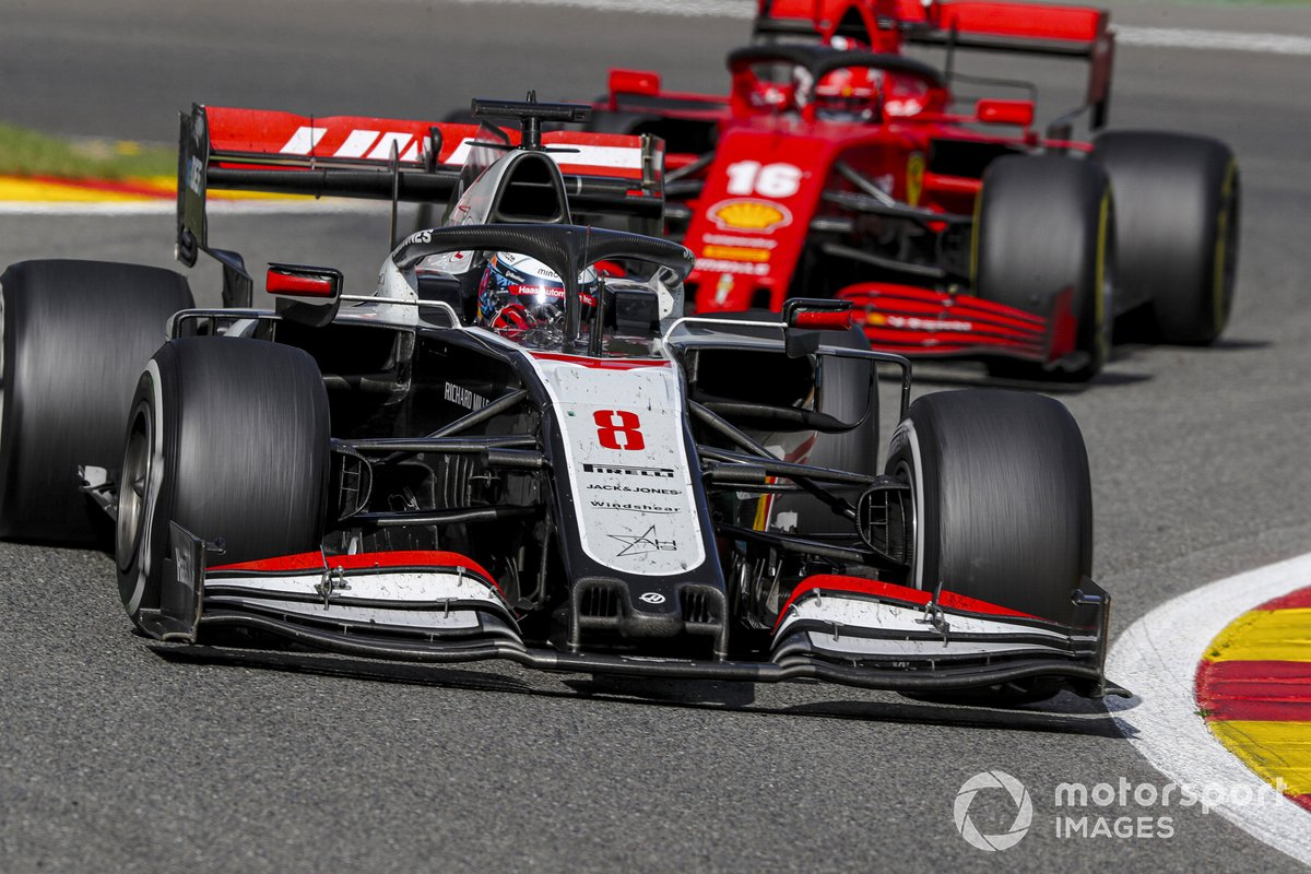 Romain Grosjean, Haas VF-20, Charles Leclerc, Ferrari SF1000
