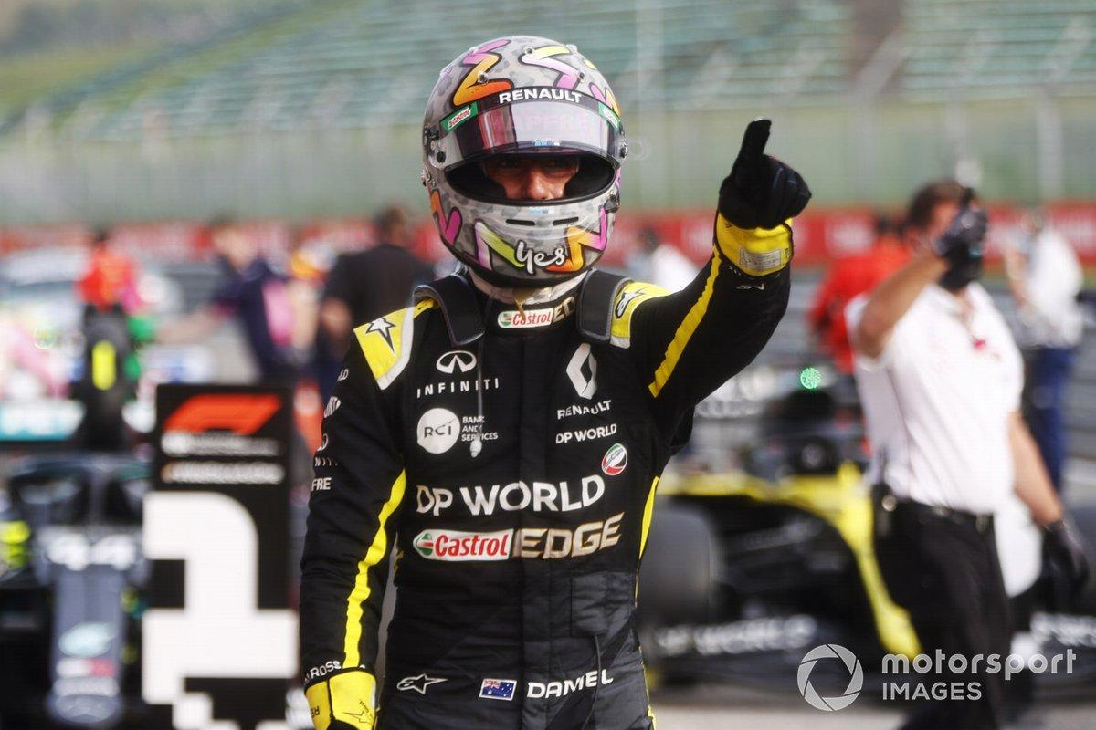 Daniel Ricciardo, Renault F1, terzo classificato, al Parc Ferme