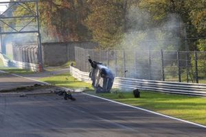 #312 Ombra Racing, Porsche 991 4.0: Adriano Pan, big crash
