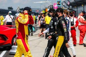 Ryan Hunter-Reay, Andretti Autosport Honda, Sage Karam, Dreyer & Reinbold Racing Chevrolet