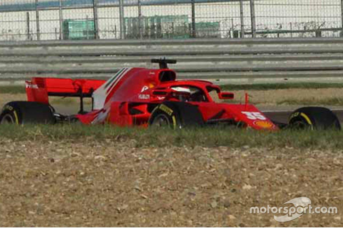 Robert Shwartzman sulla Ferrari SF71H nel test FDA di Fiorano