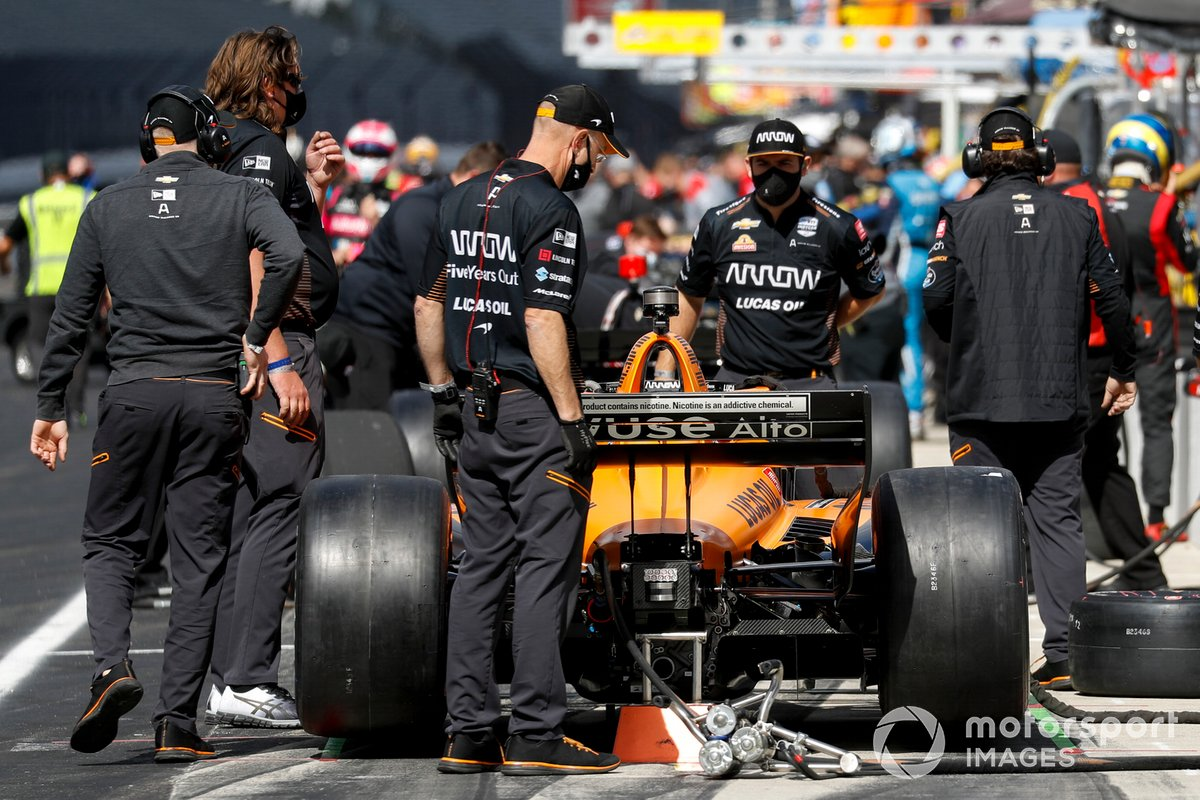 Patricio O'Ward, Arrow McLaren SP Chevrolet, miembros del equipo