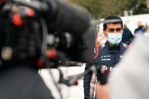 Karun Chandhok is intervied for television