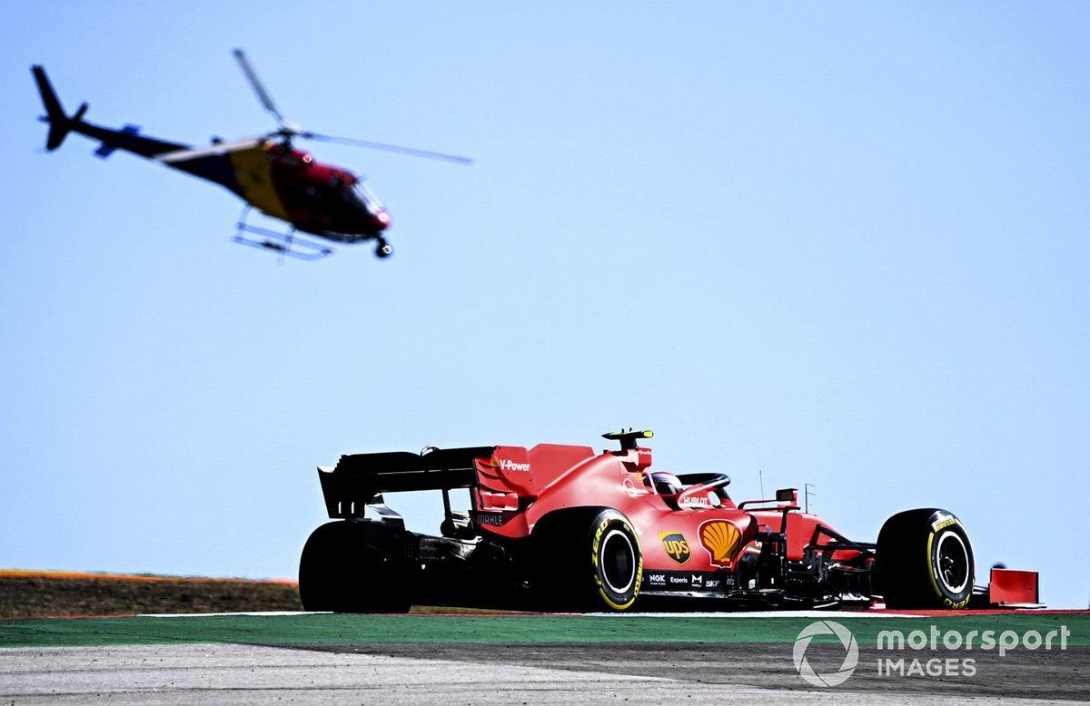 Charles Leclerc, Ferrari SF1000, e l' elicottero Airbus H125