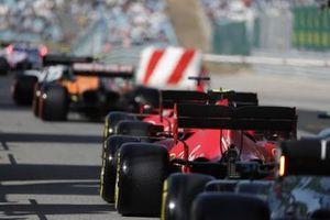 Sebastian Vettel, Ferrari SF1000, Charles Leclerc, Ferrari SF1000, out of the pits for Q1