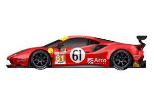 La livrea della Luzich Racing Ferrari 488 GTE