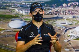 Nicholas Latifi, Williams Racing, in the press conference