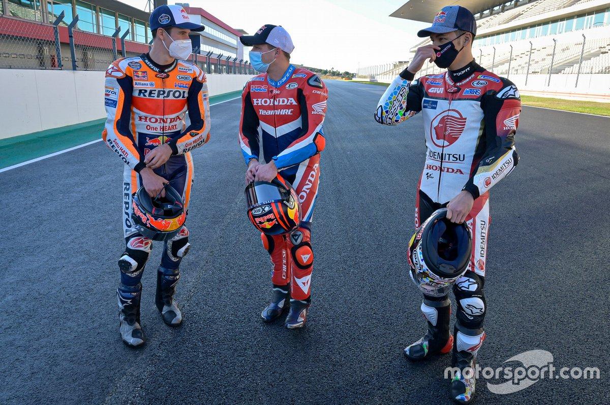 Alex Márquez, Repsol Honda Team, Stefan Bradl, Repsol Honda Team, Takaaki Nakagami, Team LCR Honda