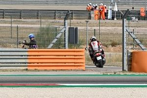 Takaaki Nakagami, Team LCR Honda, after crash