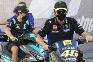 Valentino Rossi, Yamaha Factory Racing, Franco Morbidelli, Petronas Yamaha SRT