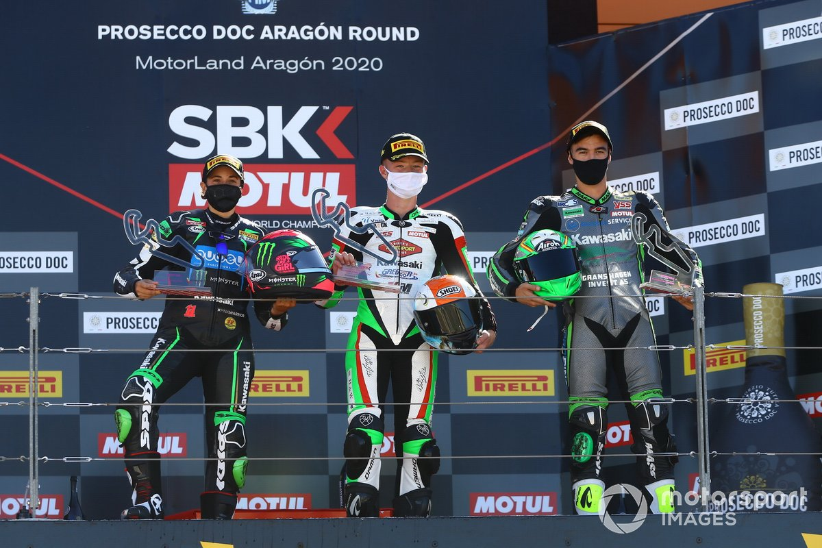 Ana Carrasco, Kawasaki Provec WorldSSP300, Jeffery Buis, MTM Kawasaki Motoport, Mika Perez, Prodina Ircos Team WorldSSP300