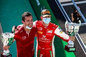 Winning Constructor Representative and Mick Schumacher, Prema Racing