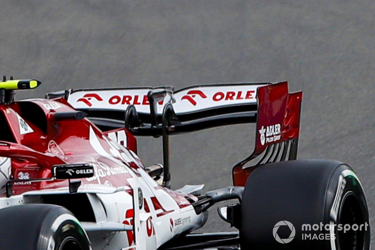 Antonio Giovinazzi, Alfa Romeo Racing C39, dettaglio dell'ala posteriore