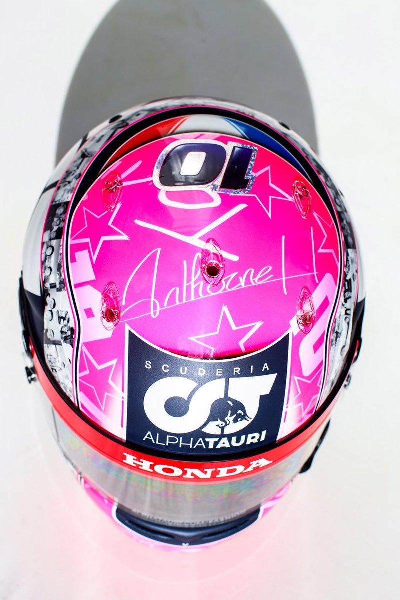 Il nuovo casco di Pierre Gasly, AlphaTauri