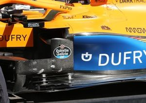 McLaren MCL35 bargeboard detail