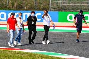 Giuliano Alesi, BWT HWA Racelab, Jean Alesi and Pierre Gasly, AlphaTauri walk the track