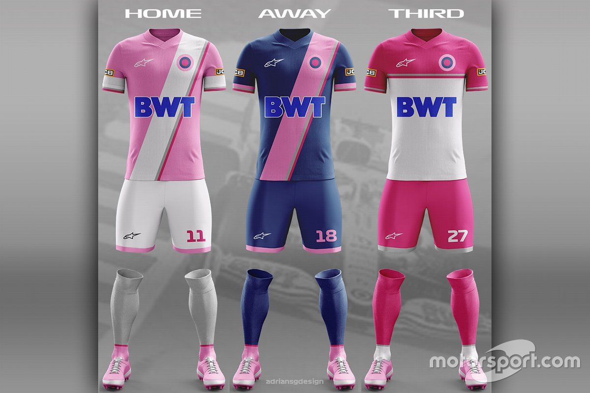 Racing Point Football team kit
