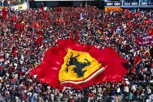 Michael Schumacher, Ferrari's race victory being celebrated