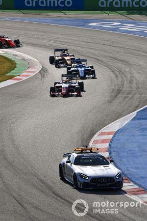 Safety Car, Oscar Piastri, Prema Racing, Matteo Nannini, Jenzer Motorsport e Alexander Peroni, Campos Racing