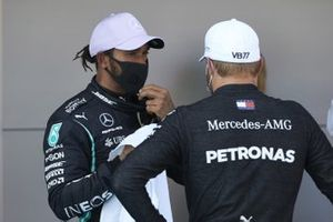 Front row starters Lewis Hamilton, Mercedes-AMG Petronas F1, and Valtteri Bottas, Mercedes-AMG Petronas F1