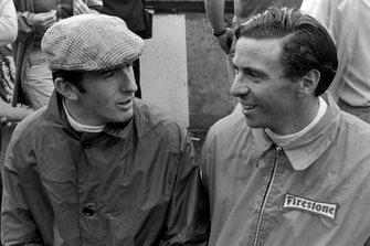 Jackie Stewart with Jim Clark, Lotus 49 Ford