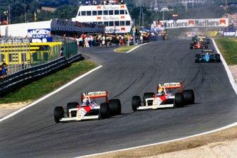 Alain Prost, McLaren MP4-4 Honda, Ayrton Senna, McLaren MP4-4 Honda