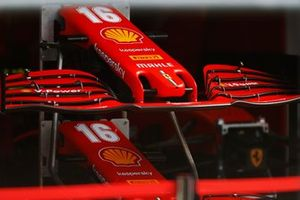 Nose cones of the Charles Leclerc Ferrari SF1000 are stacked