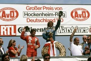 Podium: 1. Jacques Laffite, 2. Carlos Reutemann, 3. Alan Jones