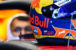 Helmet of Alex Albon, Red Bull Racing