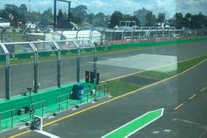 Tarmac strip at the end of the pit wall