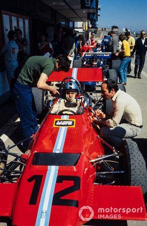 Piers Courage, Frank Williams Racing Cars, De Tomaso 505/38, mit Frank Williams
