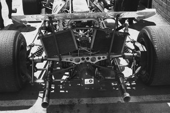 A rear view on a Matra-Simca MS120 in the pits