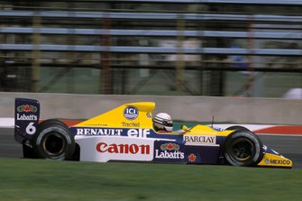 Riccardo Patrese, Williams FW13B Renault, al GP del Messico del 1990