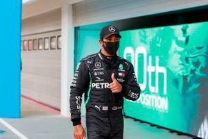 Pole Sitter Lewis Hamilton, Mercedes-AMG Petronas F1 celebrate is Parc Ferme