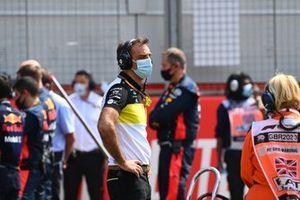 Cyril Abiteboul, Managing Director, Renault F1 Team, on the grid