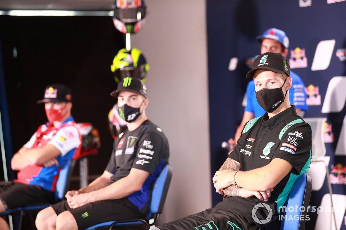 Fabio Quartararo, Petronas Yamaha SRT, en la conferencia de prensa
