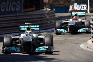 Nico Rosberg, Mercedes GP Petronas F1 Team, Michael Schumacher, Mercedes GP Petronas F1 Team