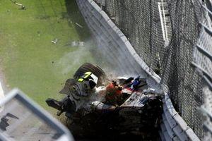 Choque de Robert Kubica, BMW Sauber F1.07