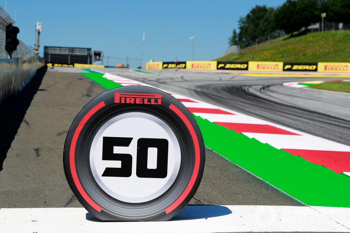 La señalización en pista de Pirelli