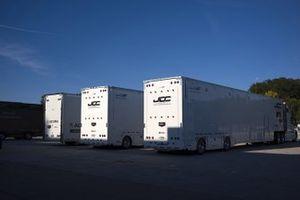 Mustang Sampling Racing / JDC-Miller MotorSports transporters