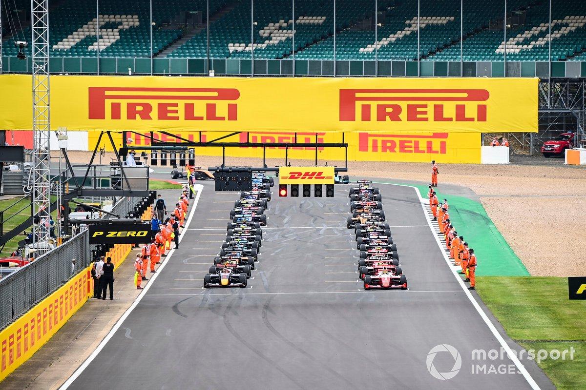 Liam Lawson, Hitech Grand Prix e Logan Sargeant, Prema Racing alla partenza